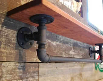 Industrial steampunk black iron pipe towel rack (PIPE ONLY)