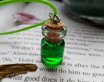 Putrid Poison Potion Bottle Necklace