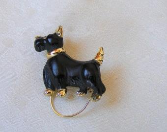 Scottish terrier brooch,  scotty dog, black Scottish terrier, Gift for her, dog lovers,