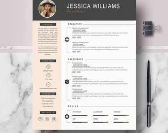 Professional CV Template for Ms Word & Pages | Curriculum Vitae | CV + Cover Letter + References + Free cv writing guide | Instant Download