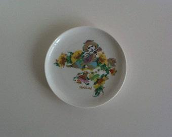 Beautiful, small decorative plates, collecting plates, mandolin player, porcelain, Rosenthal, design: Bjørn Wiinblad, vintage