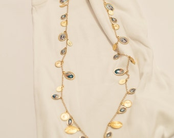 Hypoallergenic nickel, gold and silver necklaces, fully hand