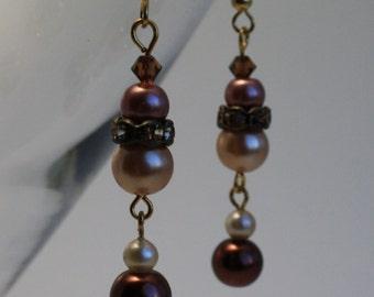 Autumn dangle earrings