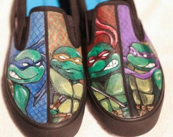 Custom painted Ninja Turtles Vans