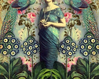 Blue dress. Greeting cards. Art cards. Romany soup.