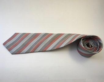Vintage Grey/Rust HALSTON Necktie
