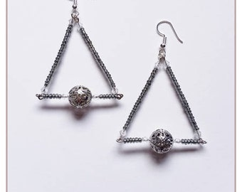 "Earrings ""Collection shade of gray"""