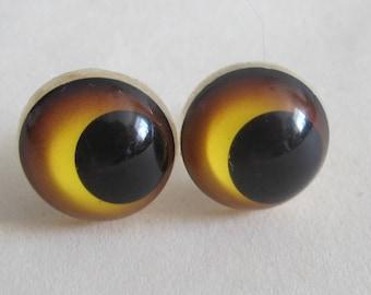 1 Pair Bear Eyes, Teddy Eyes 20 mm, Safety Doll Eyes, Craft Eyes
