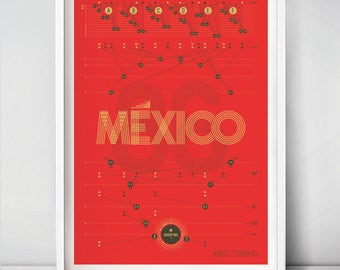 Hand-pulled football / soccer print — Finals Eighty-six (Limited edition)