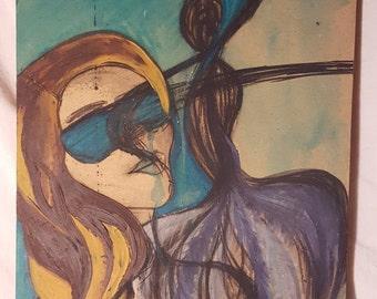 Original Painting - 'My Spirit & The Moon'