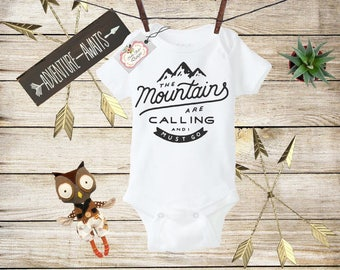 Adventure Baby Onesie, Mountains are Calling Onesie, Baby Onesie, Baby  Clothes, Baby Shower Gift, Boho Baby Outfit, Bohemian Baby, Baby Boy