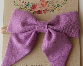 Eloise Sailor Bow in Lilac