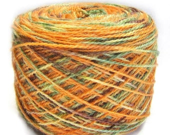 Sock Yarn Handpainted 2 ply, Pumpkin Patch, Free Shipping