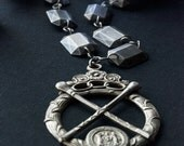 Order of Oddfellows Ceremonial Medallion Necklace / Order of Rebekah /  Victorian Era / Secret Society Jewelry / Occult Jewelry