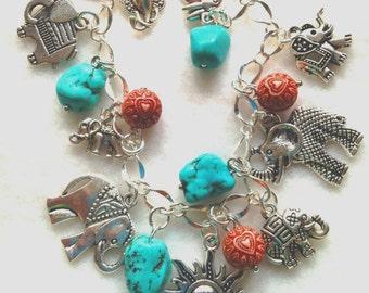 Elephant Charm Bracelet. Elephants. Charm Bracelet. BC 05