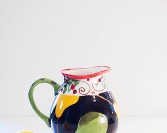 Ceramic Pitcher Wedding Gift Parisian Pear Round Pitcher Pottery Pitcher Water Pitcher Lemonade Pitcher Juice Pitcher Beverage Serving PP