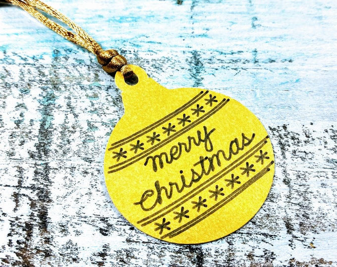 Ornament Christmas Gift Tag