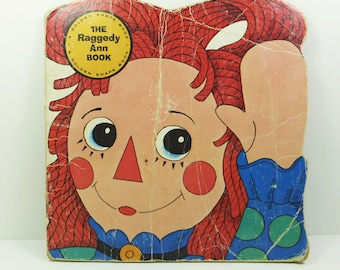 The Raggedy Ann Book, A Golden Shape Book by Janet Fulton 1975 Seventh Printing
