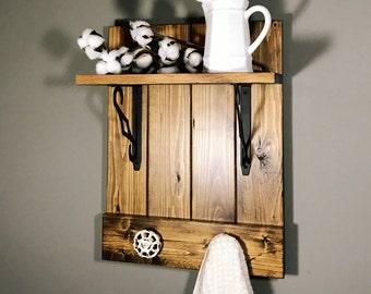Farmhouse Shelf/ Farmhouse decor/ Rustic shelf/ Shelf/ Wood Shelf/ Farmhouse rack/ rustic decor/ Country decor/ Rustic Farmhouse/ Wooden