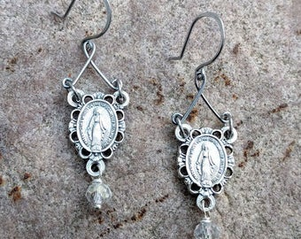 Miraculous Medal Earrings~FREE SHIPPING!