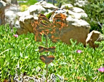 Bichon Frise Garden Stake / Metal Garden Art  / Copper Art / Pet Grave Marker / Yard Art / Pet Memorial / Outdoor Dog Sculpture Bichon Sign