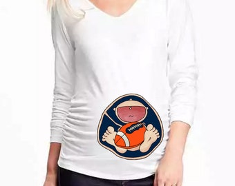 Denver Broncos Baby in Belly. DIY. Make Your Own. Apply To Any Shirt. Digital file. Instant Download.