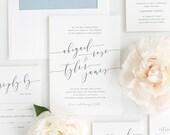 Romantic Calligraphy Wedding Invitations - Sample