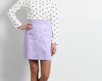SALE, purple skirt,  Mini skirt, Womens skirts, High waist skirt,  cloud pockets, Day skirt, womens skirt, Short skirt, cute pockets