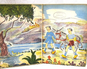 Ju Ju and His Friends - A Story of France - by Maria Van Vrooman - Pictures by Lucille Wallower - copyright 1939