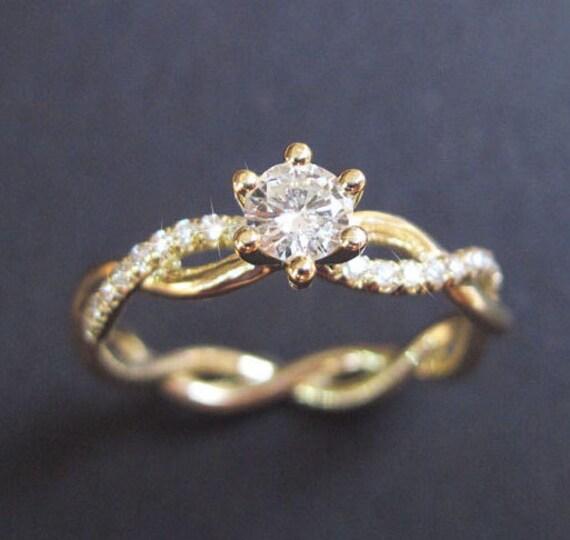 Diamond Infinity Love Engagement Ring Infinity Engagement