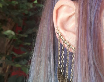 Leaves ear cuff