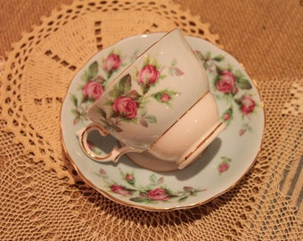 Vintage bone china cup and saucer vintage roses made in England bone china tea party briday shower baby shower luncheon