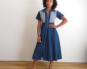 Levis denim dress Button front denim dress