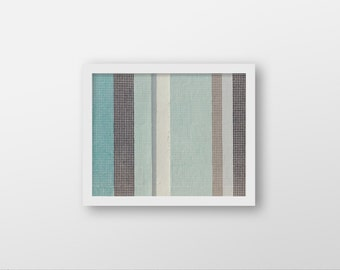 RIGHT to THE WALL | Abstract photography | modern art print | striped decor | taupe brown, seafoam green | geometric art print | retro decor