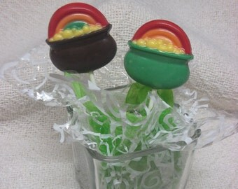 12 Pot O' Gold chocolate pops