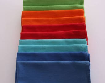 colorful cloth napkins set of 12 large cotton vintage modern or mid century table large