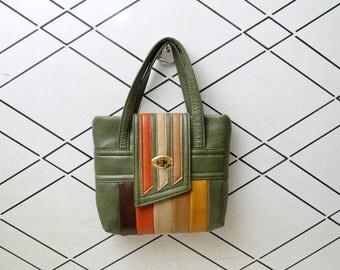 Swafford Vinyl Handbag Striped