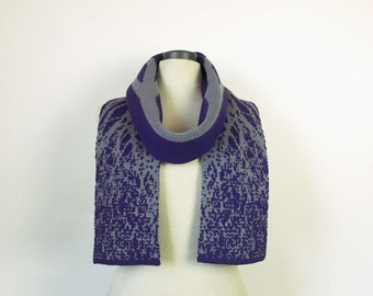 Tree scarf, nature scarf, merino wool scarf, organic scarf, science scarf, biology scarf, wool scarf, for her, Australian