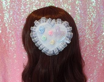 Yume Kawaii Mahou Kei Magical Unicorn 2 Way Hair Clip and Brooch Pin
