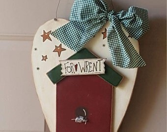 For Wrent - Wooden Heart Hanging