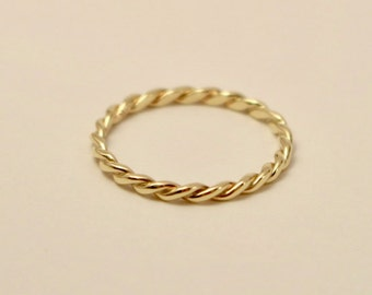 10k twisted ring, 10k yellow gold twisted ring, 10k braided ring, 10k gold ring, 10k wedding ring, 10k wedding band, 10k engagement ring