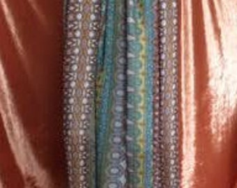 Gypsy Maxi Skirt-Egyptian Yellow Teal