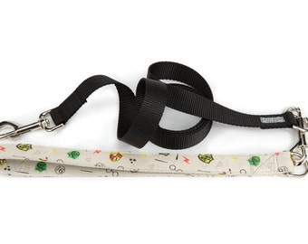 Harry Potter dog leash, nylon dog leash, traffic leash, dog lead, dog accessories, dog leash and collar, pet gifts, slytherin dog leash