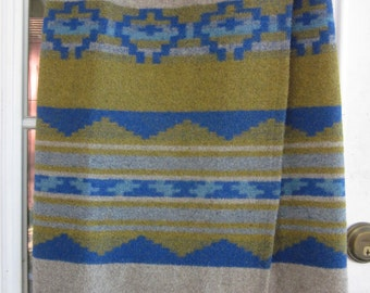 Western-style blanket  wrap skirt--late'80s-early '90s; small
