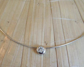 0.25ct Diamond on 14K White Gold Cord