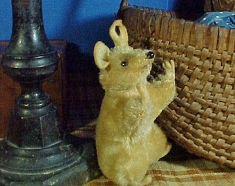 Vintage Steiff Mohair Mouse, Blonde with Black Eyes, Pieps, 1950s- 60s