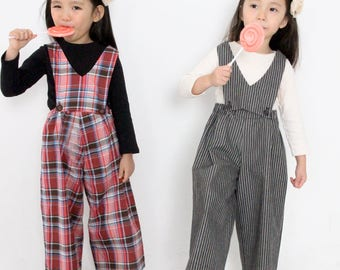 kid's sewing pattern pdf/V-neck long pants/Jumper suit/ baby sewing pattern/ children clothing/Toddler sewing pattern/12M-6years