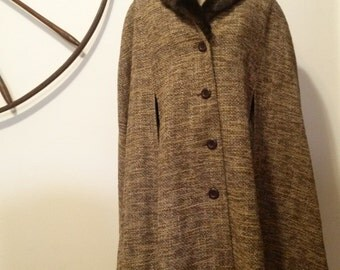 Tweed cape | Etsy