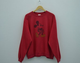 Mickey Mouse Sweatshirt Vintage Mickey Mouse Crewneck Mens Size L