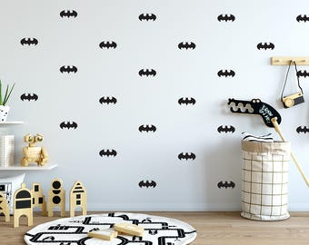 Batman Sign Wall Decal - Choose Your Color, Batman Decals, Batman Wall Decals, Geometric Pattern Wall Decal, Boy's Nursery, Scandinavian